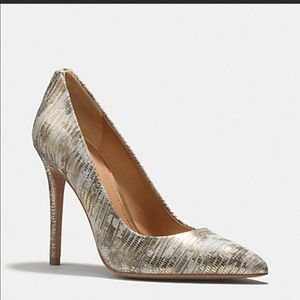 Coach snakeskin heels